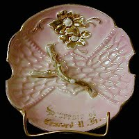 Antique Pink Luster Souvenir Plate, Concord, NY