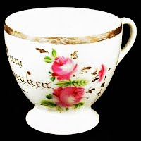 Antique Porcelain German Cup, Bum Audenkeu