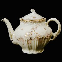 Antique Porcelain Apple Blossom One Cup Teapot