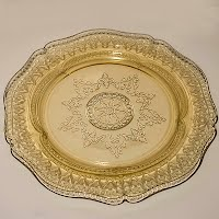 Antique Depression Amber Patrician Plate by Federal
