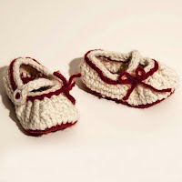 Handmade Crocheted Baby Too Cute Mary Janes  Shoes