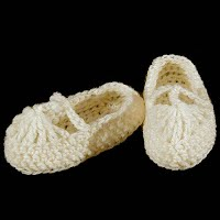 Handmade Crocheted Baby Mary Jane Shoes