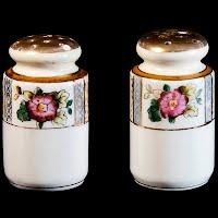 Antique Porcelain Salt and Pepper Shakers, Japan
