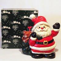 Vintage Vintage Musical Box Santa Figure