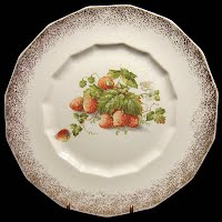 Antique Dresden China Strawberry Plate