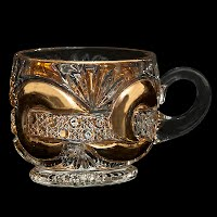 Antique, EAPG, Pressed Glass, Pattern Glass, Early American Pattern Glass, Scroll with Cane Band Punch Cup