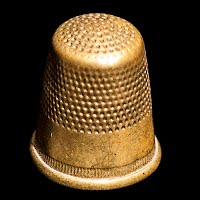 Antique Metal Thimble