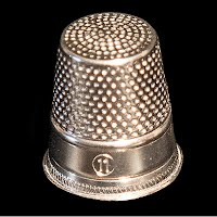 Antique Silver Thimble Size 11