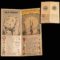 Antique Ephemera Hippo Spool Zoo Trading Card J & P Coats and Clark
