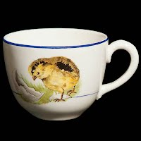 Vintage Porcelain Cup with chick