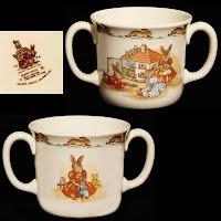 Vintage Bunnykins 2 handled Mug, 1984, Royal Doulton