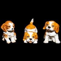 Vintage Porcelain Homco Puppies