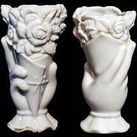 Antique Porcelain Tiny Hand Vase