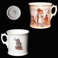 Antique Porcelain Nursery Rhyme Childs Mug