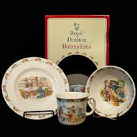 Vintage Bunnykins Plate, Mug and Bowl, Royal Doulton Breakfast Set