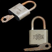 Antique Reese Padlock with Key