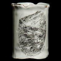 Antique Porcelain Toothpick Holder, Souvenir Georgetown, Col
