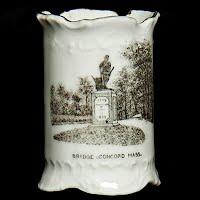 Antique Porcelain Toothpick Holder, Souvenir Concord, Mass, Minuteman Monument