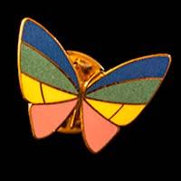 Vintage metal Butterfly Enamel Lapel Pin