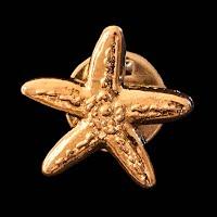 Vintage Starfish Metal Lapel Pin