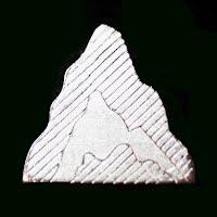 Vintage metal Mountain Lapel Pin