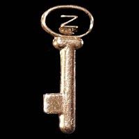 Vintage metal Key Lapel Pin or Tie Tac