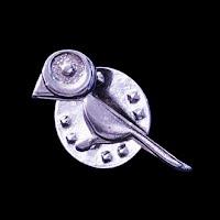 Vintage Bird Metal Lapel Pin