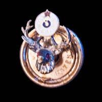 Antique Elk Lodge Metal Lapel Pin