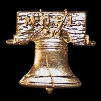 Vintage metal Liberty Bell Lapel Pin