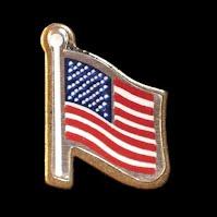 Vintage metal Flag Lapel Pin