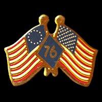 Vintage Metal Bicentennial Flag Lapel Pin