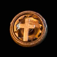 Antique metal Tiny Cross Lapel Pin