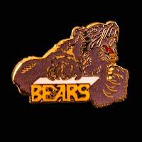 Vintage metal Bears Pin