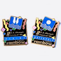 Vintagemetal  Rainbow Foods Olympic Pins
