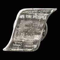 Vintage metal Constitution Lapel Pin