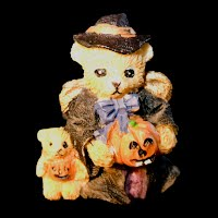 Vintage Halloween Bear Pin