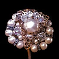 Antique Faux Pearl Stick Pin