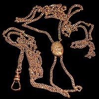Antique Watch Slide Necklace