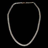 Vintage faux diamond necklace