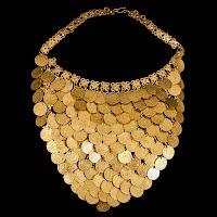 Vintage metal coin necklace