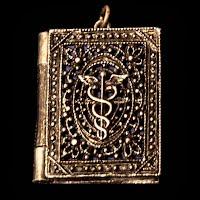 Vintage Medical Book Locket Pendant