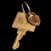 Vintage Steampunk Large Hotel Key Pendant