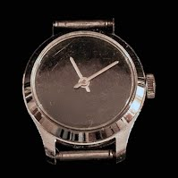 Vintage Black Face Watch