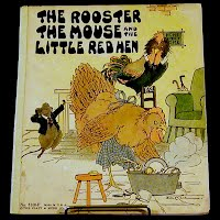 Antique Book, The Rooster, The Mouse and The Little Red Hen, 1932 Platt and Munk Company, 1932 Platt and Munk