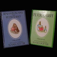 Vintage Pop-Up Children's book, Benjamin Bunny Visits Peter Rabbit, Meets Peter Rabbit Peter Rabbit, 1986