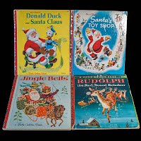 Vintage Childrens Christmas Santa Books