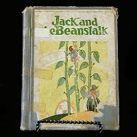 Antique Book, Jack and the Beanstalk and Robinson Crusoe, 1908
