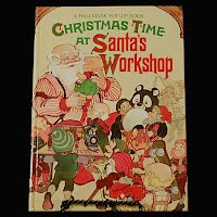 Vintage Christmas Time At Santa's Workshop, Vintage pop-up book, Hallmark Cards Inc