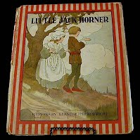 Antique Children's book, Little Jack Horner, Rand McNally Publishing, 1916
