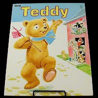 Vintage Children's book, Teddy, Saalfield Publishing
